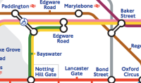 Snippet of the London Underground map