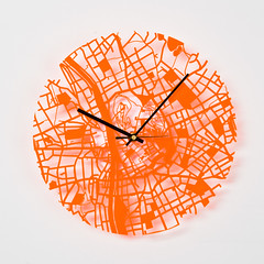 """Streets Clock Acrylic Orange 2"" by Individual Design is licensed under CC BY 2.0"